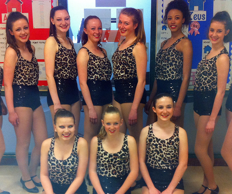 Girls from the performance dance group Synergy at the Desford festival in 2013