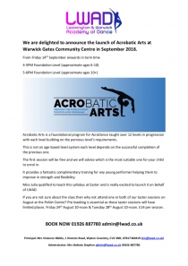 Acrobatic Arts at Warwick Gates Community Centre